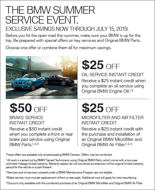 Bmwercial: THE BMW SUMMER SERVICE EVENT.